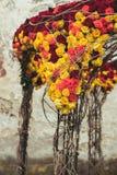 婚礼曲拱装饰 图库摄影