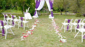 婚礼曲拱,装饰,仪式,花 影视素材
