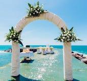 婚礼曲拱 库存图片
