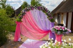 婚礼曲拱 免版税图库摄影