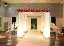 婚礼机盖(chuppah或huppah)在犹太传统 库存图片