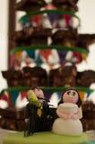 婚礼果仁巧克力塔 库存图片
