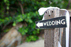 婚礼标志 免版税库存照片