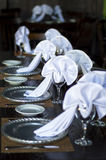 婚礼桌布局 图库摄影