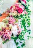 婚礼桌花装饰 库存图片