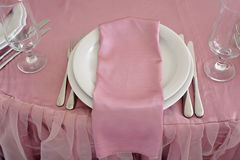 婚礼桌装饰 事件党或招待会的美好的集合 免版税库存图片