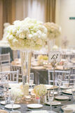 婚礼桌装饰 免版税图库摄影