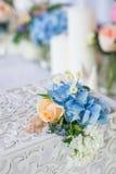 婚礼桌装饰 库存图片
