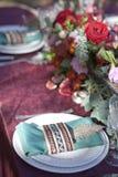 婚礼桌设定 库存图片