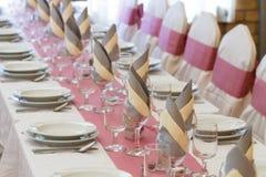 婚礼桌集合 库存图片