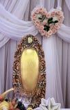 婚礼桌 库存照片