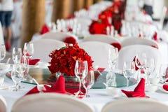 婚礼桌 免版税库存图片