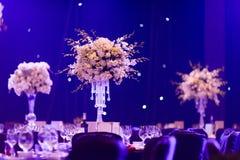 婚礼桌 免版税库存照片