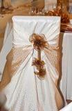 婚礼椅子 免版税图库摄影