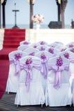 婚礼椅子 库存照片