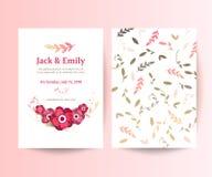 婚礼汇集 春天装饰品概念 花卉海报,邀请