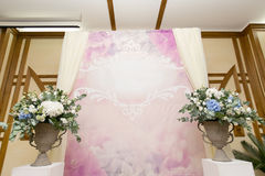 婚礼照片区域 免版税库存照片