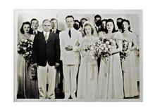 婚礼照片1940年 免版税库存照片