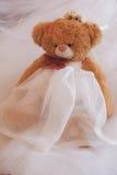 婚礼玩具女用连杉衬裤涉及白色背景 图库摄影