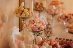 婚礼甜点 库存照片