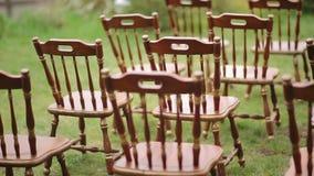 婚礼的令人惊讶的土气装饰 夏天土气婚姻的概念 影视素材