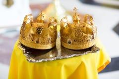 婚礼的冠 基督教 库存照片