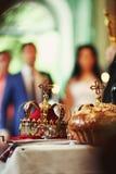 婚礼的加冕 免版税库存图片