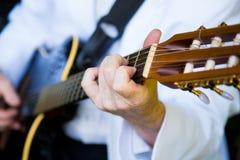 婚礼的吉他弹奏者 免版税库存照片