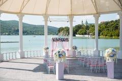 婚礼的室外地方 库存图片