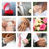婚礼的拼贴画 免版税图库摄影