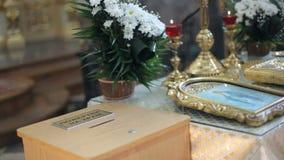 婚礼的教会属性 股票视频