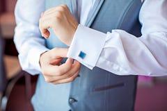 婚礼的新郎 免版税库存图片