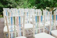 从婚礼的椅子 库存照片