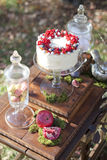 婚礼的白色糖果 免版税库存图片