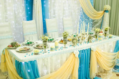 婚礼的餐馆 免版税库存照片