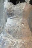 婚礼礼服。细节40 免版税库存图片