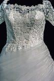 婚礼礼服。细节57 免版税库存图片