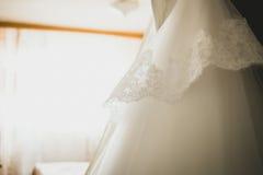 婚礼礼服乌贼属淡色被定调子的特写镜头  库存图片