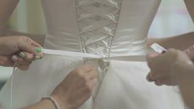 婚礼礼服特写镜头 股票录像