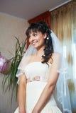 愉快的美丽的新娘 免版税库存图片