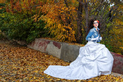 婚礼礼服的新娘 库存照片