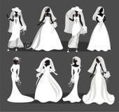 婚礼礼服 皇族释放例证