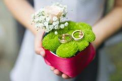 婚礼箱子 免版税图库摄影