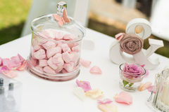 婚礼糖果 免版税库存照片