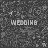 婚礼线艺术设计传染媒介例证 免版税图库摄影