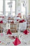 婚礼聚会桌 库存照片