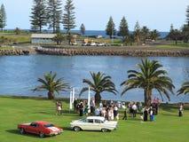 婚礼聚会海边 免版税图库摄影