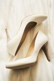 婚礼脚跟 免版税库存照片