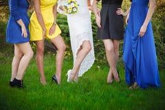 婚礼腿 图库摄影