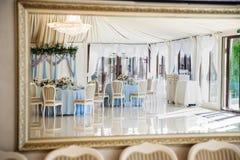 婚礼艺术装饰反射 库存照片